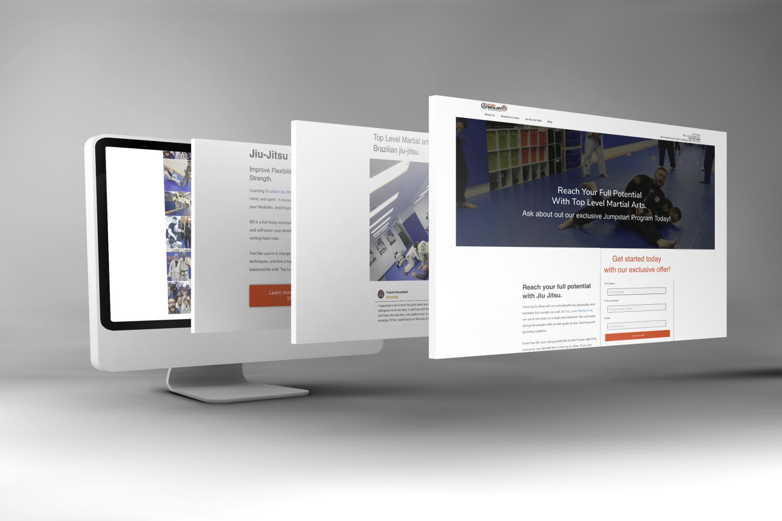 multiple layout conversion page web design mockup