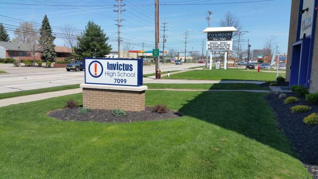 Invictus High School parma building sign