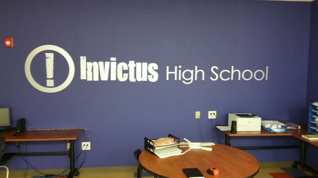 Invictus wall decal