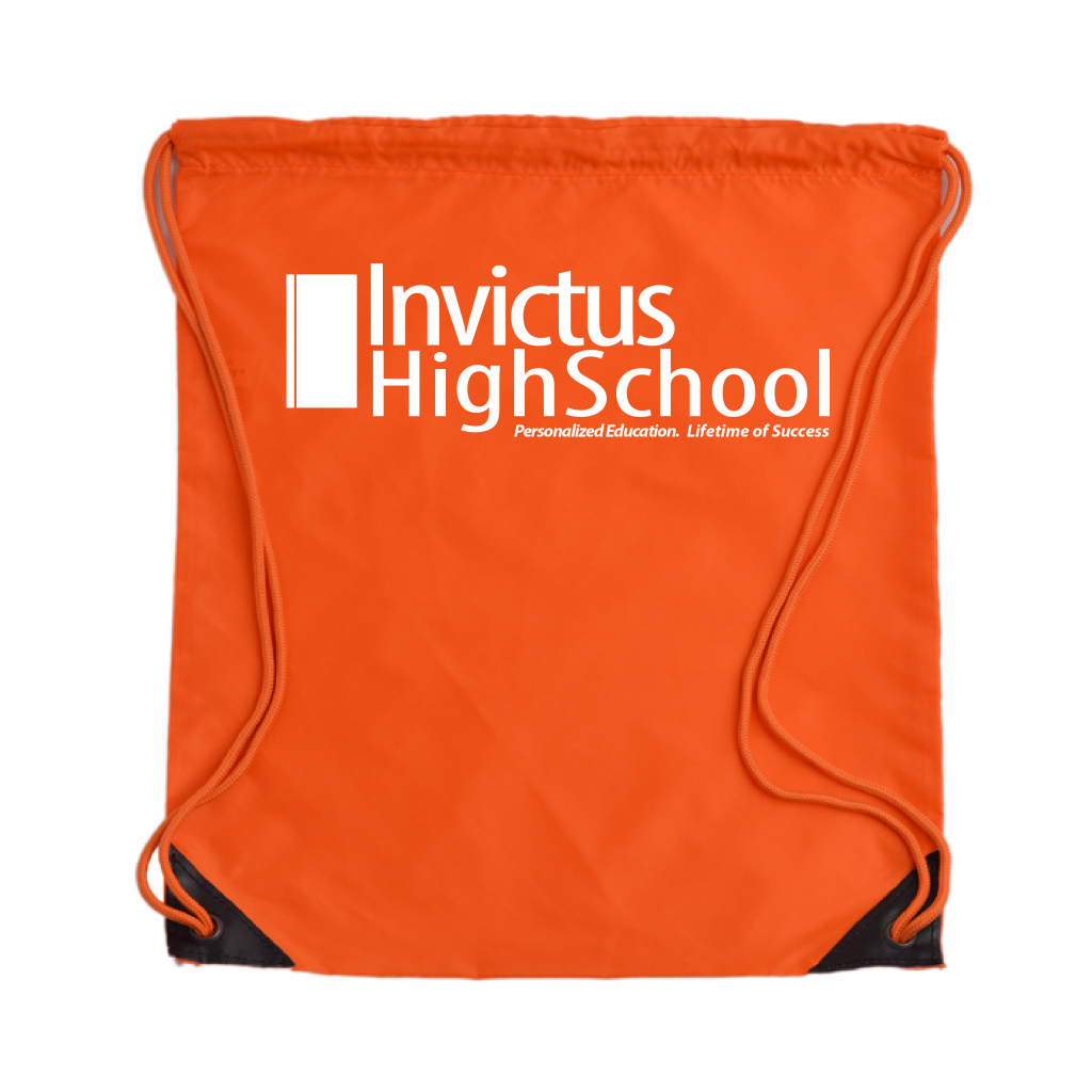 branded drawstring backpack