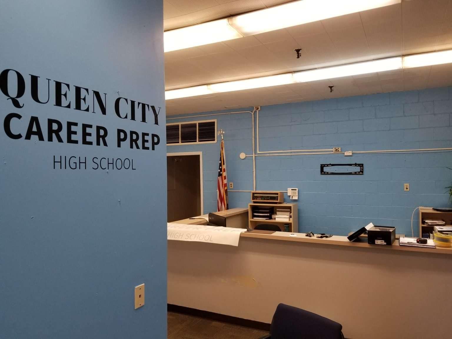 Queen City High School wall branding