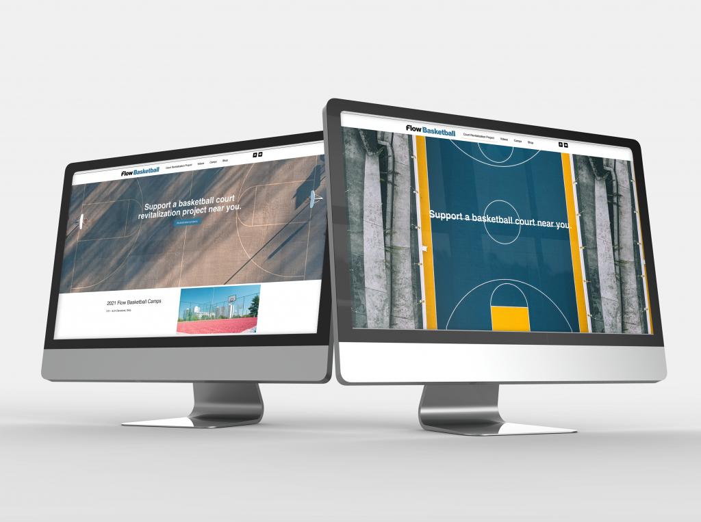 Flow Basketball Website Design