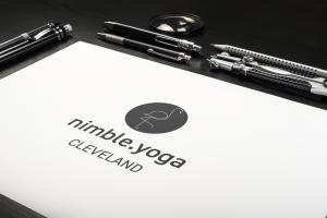 Nimble yoga logo sketch