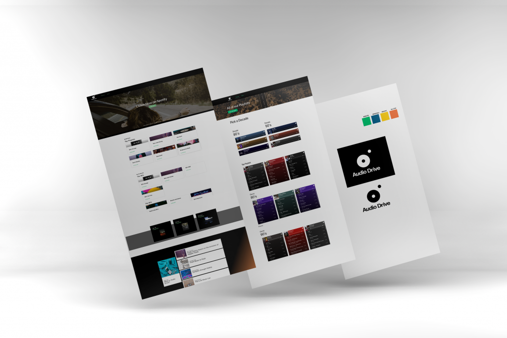 Multiple web layouts for Audiodrive