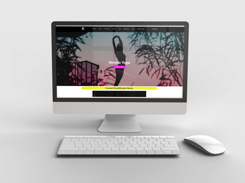website design for nimble yoga